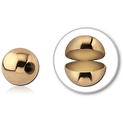 14K GOLD MICRO HOLLOW BALL
