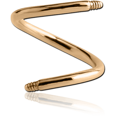 14K GOLD MICRO BODY SPIRAL PIN