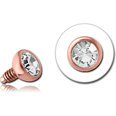 14K ROSE GOLD JEWELLED BALL FOR 1.2MM INTERNALLY THREADED PINS
