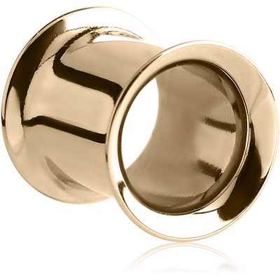 18K GOLD DOUBLE FLARED TUNNEL