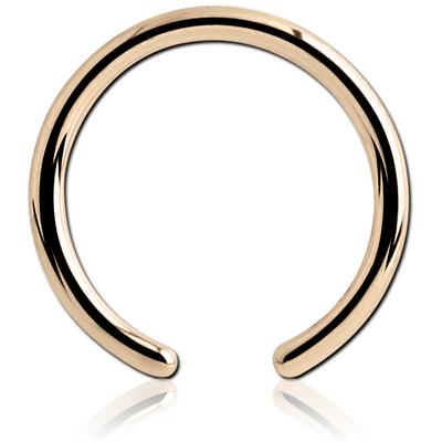 9K GOLD BALL CLOSURE RING PIN