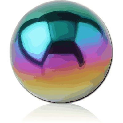 ANODISED SURGICAL STEEL BALL FOR BALL CLOSURE RING