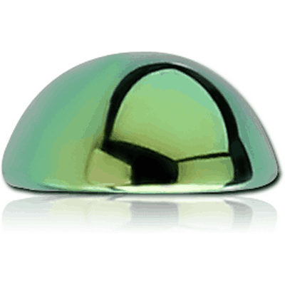 ANODISED SURGICAL STEEL HALF BALL