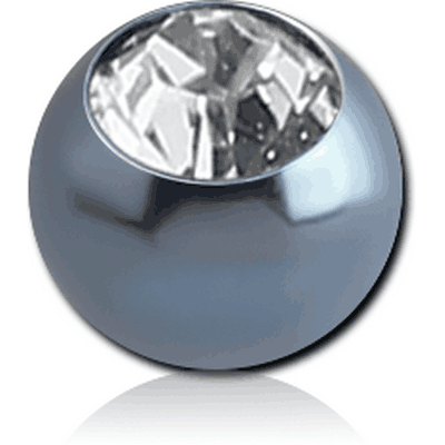 ANODISED SURGICAL STEEL SWAROVSKI CRYSTAL JEWELLED BALL