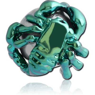 ANODISED BRASS SCORPION BALL FOR BALL CLOSURE RING