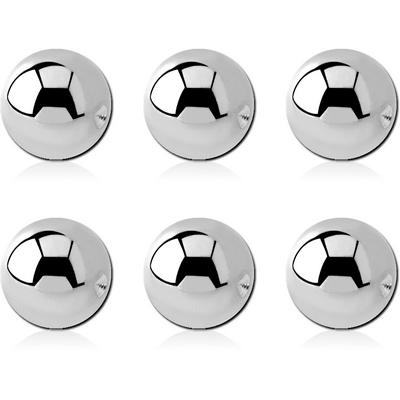 PACK OF 6 SURGICAL STEEL BALL FOR BALL CLOSURE RING