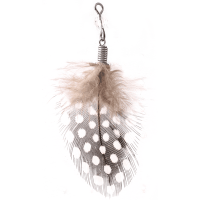 RHODIUM PLATED BRASS FEATHER CHARM