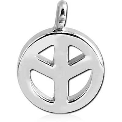 SURGICAL STEEL PEACE SIGN CHARM