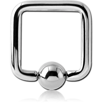 SURGICAL STEEL SQUARE BALL CLOSURE RING