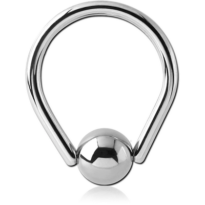 SURGICAL STEEL TEAR DROP BALL CLOSURE RING