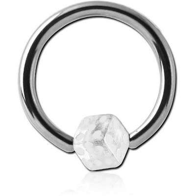 SURGICAL STEEL BALL CLOSURE RING WITH UV DICE