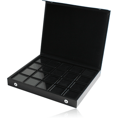 IMITATION LEATHER TRAY CLIP-ON COVER WITH 20 PCS OF 5CM PLASTIC BOXES
