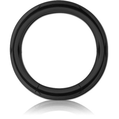 BLACK PVD COATED SURGICAL STEEL SMOOTH SEGMENT RING