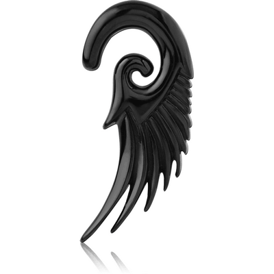 BLACK PVD COATED SURGICAL STEEL CLAW - WING