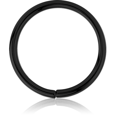 BLACK PVD COATED SURGICAL STEEL SEAMLESS RING