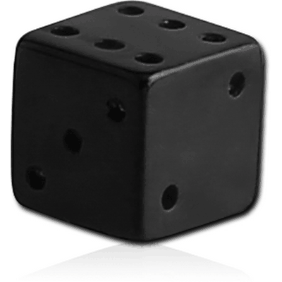 BLACK PVD COATED SURGICAL STEEL DICE