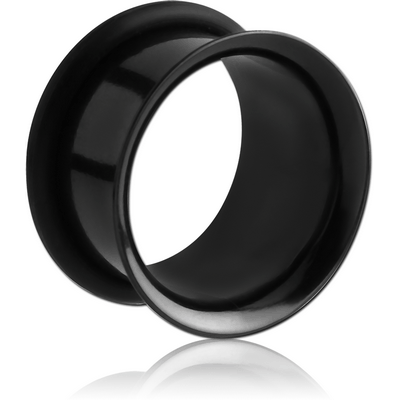 BLACK PVD COATED STAINLESS STEEL SINGLE FLARED TUNNEL