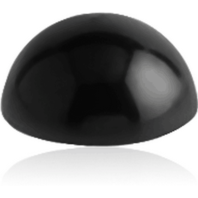 BLACK PVD COATED SURGICAL STEEL HALF BALL
