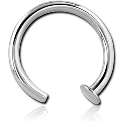 SURGICAL STEEL OPEN NOSE RING