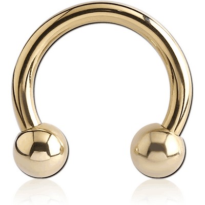 ZIRCON GOLD PVD COATED SURGICAL STEEL CIRCULAR BARBELL