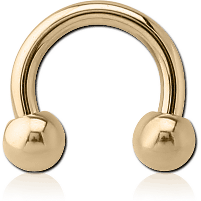 ZIRCON GOLD PVD COATED SURGICAL STEEL MICRO CIRCULAR BARBELL