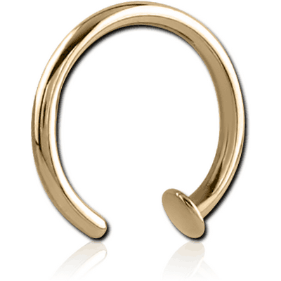 ZIRCON GOLD SURGICAL STEEL OPEN NOSE RING