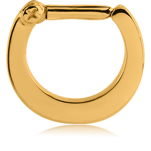 GOLD PVD SURGICAL STEEL HINGED SEPTUM CLICKER