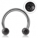SURGICAL STEEL MICRO CIRCULAR BARBELL WITH UV ACRYLIC FANCY BALLS