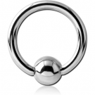 TITANIUM BALL CLOSURE RING WITH SURGICAL STEEL BALL