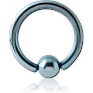 ANODISED SURGICAL STEEL BALL CLOSURE RING PIERCING