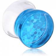 UV ACRYLIC DOUBLE FLARED PLUG WITH INLAID DESIGN