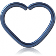 ANODISED SURGICAL STEEL HEART SEAMLESS RING PIERCING