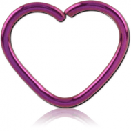 ANODISED SURGICAL STEEL HEART SEAMLESS RING