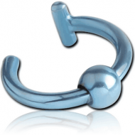 ANODISED SURGICAL STEEL ILLUSION EAR CUFF WITH BALL