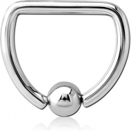 SURGICAL STEEL BALL CLOSURE D-RING PIERCING