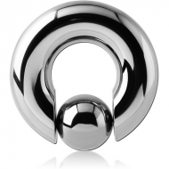 SURGICAL STEEL BALL CLOSURE RING WITH POP OUT BALL