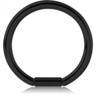 BLACK PVD COATED SURGICAL STEEL BAR CLOSURE RING
