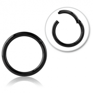 BLACK PVD COATED SURGICAL STEEL HINGED SEGMENT RING