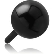 BLACK PVD COATED SURGICAL STEEL PUSH FIT BALL FOR BIOFLEX INTERNAL LABRET PIERCING