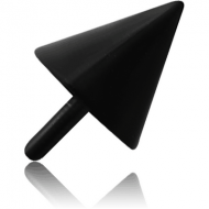 BLACK PVD COATED SURGICAL STEEL PUSH FIT CONE FOR BIOFLEX INTERNAL LABRET PIERCING