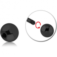 BLACK PVD COATED SURGICAL STEEL BALL PIERCING