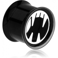 BLACK PVD COATED SURGICAL STEEL FANG DOUBLE FLARED TUNNEL PIERCING