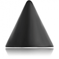 BLACK PVD COATED SURGICAL STEEL MICRO CONE
