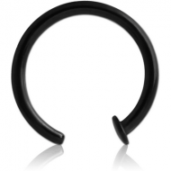 BLACK PVD COATED SURGICAL STEEL OPEN NOSE RING