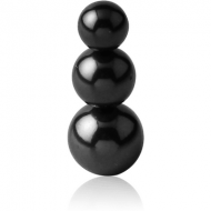 BLACK PVD COATED SURGICAL STEEL PYRAMID BALL PIERCING