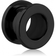 BLACK PVD COATED STAINLESS STEEL THREADED TUNNEL PIERCING