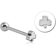 SURGICAL STEEL CLOVER BARBELL PIERCING