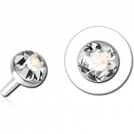 SURGICAL STEEL CRYSTALINE JEWELLED PUSH FIT DISC FOR BIOFLEX INTERNAL LABRET