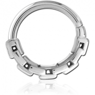 SURGICAL STEEL SEAMLESS RING PIERCING