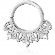 SURGICAL STEEL JEWELLED SEAMLESS RING PIERCING